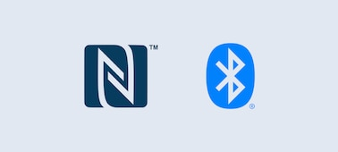 Logotipos de NFC™ y Bluetooth®